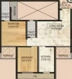 1025 sqft, 2 bhk Apartment in Monarch Luxuria Kharghar, Mumbai at Rs. 1.1000 Cr