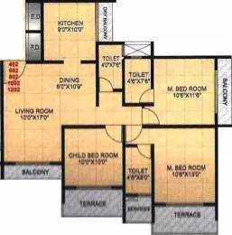 1500 sqft, 3 bhk Apartment in Shree Ambica Heritage Kharghar, Mumbai at Rs. 1.8000 Cr