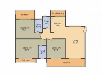 1530 sqft, 3 bhk Apartment in Aaron Kasturi Heritage Kharghar, Mumbai at Rs. 1.6000 Cr