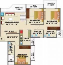 1700 sqft, 3 bhk Apartment in Satyam Empress Kharghar, Mumbai at Rs. 1.7000 Cr