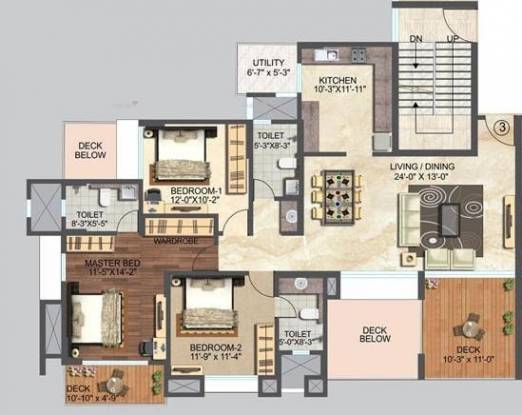 1770 sqft, 3 bhk Apartment in ABIL Imperial Baner, Pune at Rs. 1.6000 Cr