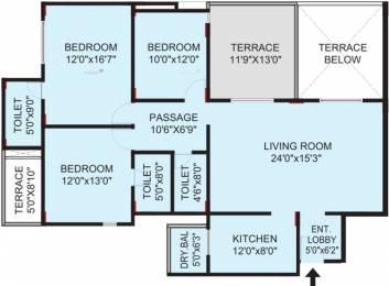 1910 sqft, 3 bhk Apartment in Pride Valencia Baner, Pune at Rs. 1.7000 Cr