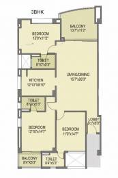 2150 sqft, 3 bhk Apartment in Pride Purple Park Titanium Wakad, Pune at Rs. 1.6500 Cr