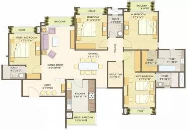2496 sqft, 4 bhk Apartment in Godrej Anandam Ganeshpeth, Nagpur at Rs. 35000