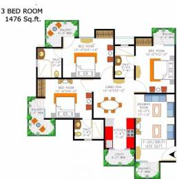 1476 sqft, 3 bhk Apartment in Rishabh Cloud9 Towers Shakti Khand, Ghaziabad at Rs. 75.0000 Lacs