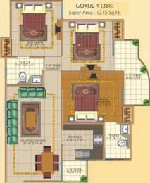1215 sqft, 3 bhk Apartment in SVP Gulmohur Garden Raj Nagar Extension, Ghaziabad at Rs. 38.0000 Lacs
