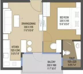 615 sqft, 1 bhk Apartment in Le Solitairian Solitairian City Sector 25 Yamuna Express Way, Noida at Rs. 24.6000 Lacs