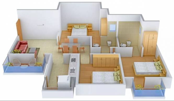 1326 sqft, 3 bhk Apartment in Tulip White Sector 69, Gurgaon at Rs. 18500