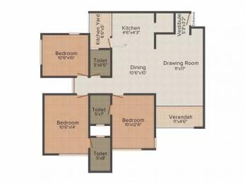 1746 sqft, 3 bhk Apartment in Savvy Solaris Motera, Ahmedabad at Rs. 18000