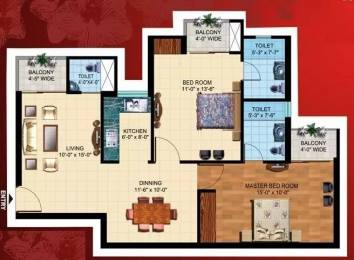 1120 sqft, 2 bhk Apartment in Paramount Mapple Crossing Republik, Ghaziabad at Rs. 37.0000 Lacs