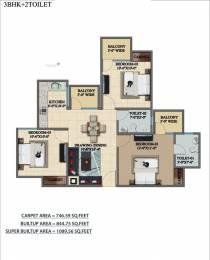 1090 sqft, 3 bhk Apartment in Builder Mehak Jeevan Raj Nagar Extension, Ghaziabad at Rs. 24.9500 Lacs