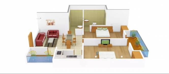 850 sqft, 2 bhk Apartment in Supertech Livingston Crossing Republik, Ghaziabad at Rs. 27.5000 Lacs