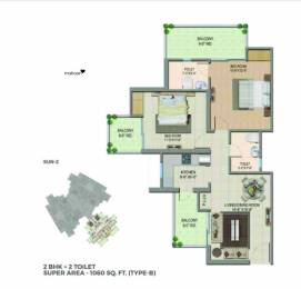 1060 sqft, 2 bhk Apartment in Migsun Wynn ETA 2, Greater Noida at Rs. 29.5740 Lacs