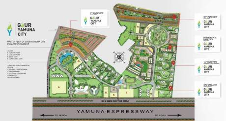 1350 sqft, Plot in Gaursons 6th Parkview Sector 22D Yamuna Expressway, Noida at Rs. 39.0000 Lacs