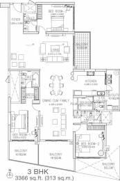3366 sqft, 3 bhk Apartment in Godrej Platinum Hebbal, Bangalore at Rs. 1.3000 Lacs