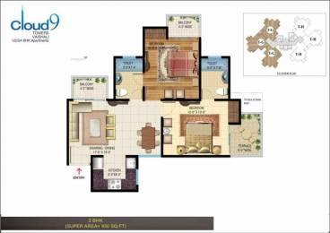 930 sqft, 2 bhk Apartment in Aadi Best Consortium Rishabh Cloud 9 Towers Sector 1 Vaishali, Ghaziabad at Rs. 59.0000 Lacs