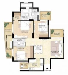 1818 sqft, 3 bhk Apartment in DLF The Primus Sector 82A, Gurgaon at Rs. 28000