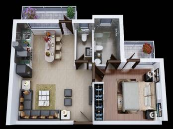 830 sqft, 1 bhk Apartment in Builder Chitvan Vrindavan, Mathura at Rs. 26.5600 Lacs