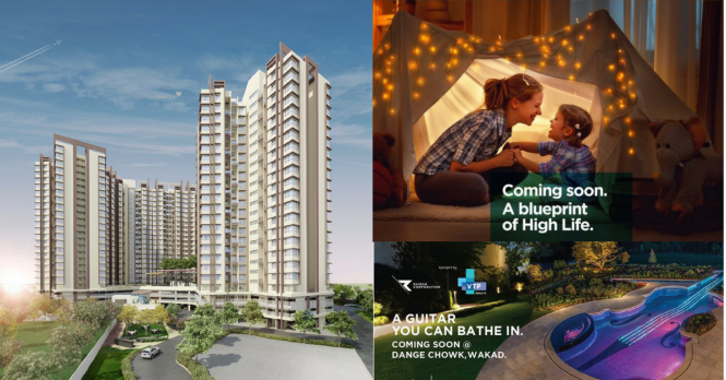 1140 sqft, 2 bhk Apartment in VTP HiLife Wakad, Pune at Rs. 59.5500 Lacs