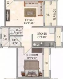 700 sqft, 1 bhk Apartment in Swaraj BellaVita Ghansoli, Mumbai at Rs. 84.0000 Lacs