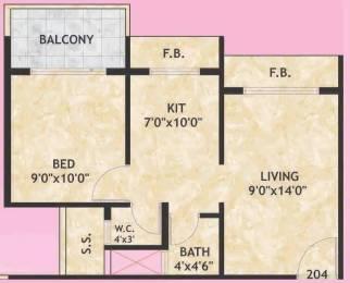 700 sqft, 1 bhk Apartment in Galaxy Krishna Tower Ulwe, Mumbai at Rs. 41.0000 Lacs