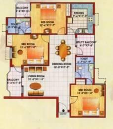 1593 sqft, 3 bhk Apartment in Jaipuria Sunrise Greens Apartment Ahinsa Khand 1, Ghaziabad at Rs. 16000
