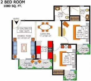 1080 sqft, 2 bhk Apartment in Rishabh Cloud9 Towers Shakti Khand, Ghaziabad at Rs. 13500