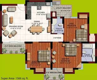 1566 sqft, 3 bhk Apartment in ABA Orange County Ahinsa Khand 1, Ghaziabad at Rs. 25000