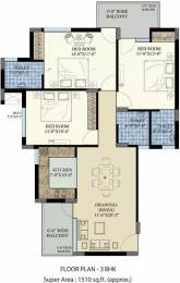 1510 sqft, 3 bhk Apartment in SBP Homes Sector 126 Mohali, Mohali at Rs. 16000