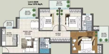 1375 sqft, 3 bhk Apartment in Rishita Manhattan Gomti Nagar Extension, Lucknow at Rs. 46.0625 Lacs