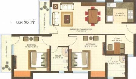 1330 sqft, 2 bhk Apartment in Gandharva Imperial Crest Vrindavan Yojna, Lucknow at Rs. 47.1500 Lacs
