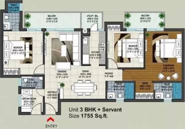 1755 sqft, 3 bhk Apartment in Rishita Manhattan Gomti Nagar Extension, Lucknow at Rs. 58.7000 Lacs