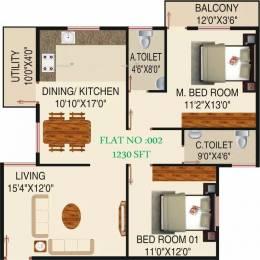 1230 sqft, 2 bhk Apartment in Honey Honey Dew Begur, Bangalore at Rs. 56.0000 Lacs