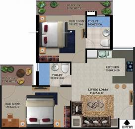 950 sqft, 2 bhk Apartment in Breez Global Heights Sector 33 Sohna, Gurgaon at Rs. 28.0000 Lacs