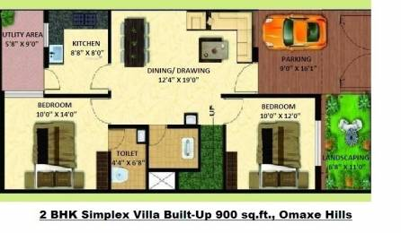 1380 sqft, 3 bhk Villa in Omaxe Hills Machla, Indore at Rs. 37.0000 Lacs