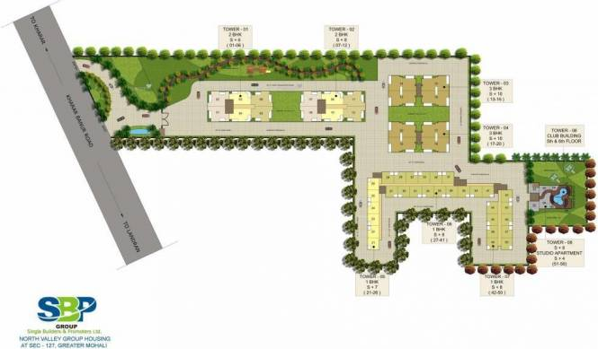 620 sqft, 1 bhk Apartment in SBP North Valley Sector 127 Mohali, Mohali at Rs. 14.0000 Lacs