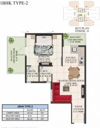 497 sqft, 1 bhk Apartment in Supertech The Valley Sector 78, Gurgaon at Rs. 14.0000 Lacs