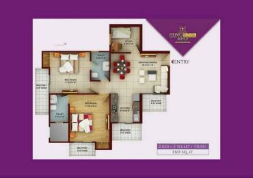 1165 sqft, 2 bhk Apartment in Samridhi Luxuriya Avenue Sector 150, Noida at Rs. 45.4350 Lacs