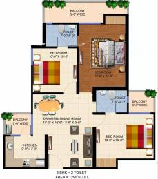 1295 sqft, 3 bhk Apartment in Ajnara Panorama Sector 25 Yamuna Express Way, Noida at Rs. 38.8500 Lacs