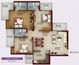 1625 sqft, 3 bhk Apartment in Samridhi Luxuriya Avenue Sector 150, Noida at Rs. 65.0000 Lacs