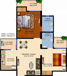 995 sqft, 2 bhk Apartment in Ajnara Panorama Sector 25 Yamuna Express Way, Noida at Rs. 26.3700 Lacs