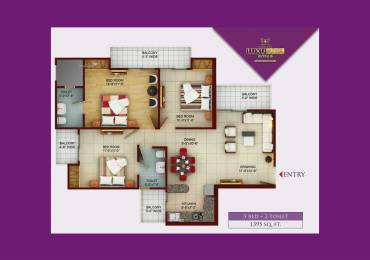 1395 sqft, 3 bhk Apartment in Samridhi Luxuriya Avenue Sector 150, Noida at Rs. 65.0000 Lacs
