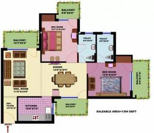 1304 sqft, 2 bhk Apartment in SRS SRS Residency Sector 88, Faridabad at Rs. 35.9000 Lacs