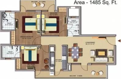 1485 sqft, 3 bhk Apartment in CHD Avenue 71 Sector 71, Gurgaon at Rs. 87.0000 Lacs