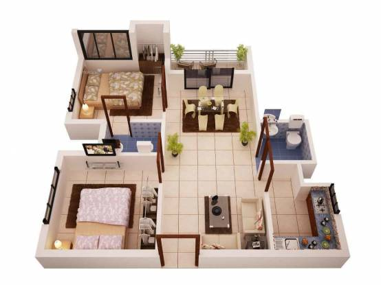 854 sqft, 2 bhk Apartment in Soudamini Estates Soudamin Venkateswar Plaza Sundarpada, Bhubaneswar at Rs. 19.6420 Lacs