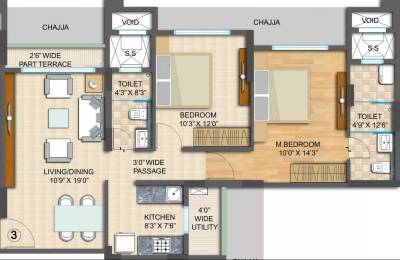 1200 sqft, 2 bhk Apartment in Radius Epitome at Imperial Heights Goregaon West, Mumbai at Rs. 45000