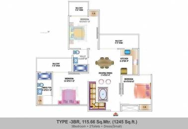 1245 sqft, 3 bhk Apartment in Nirala Estate Techzone 4, Greater Noida at Rs. 41.7000 Lacs