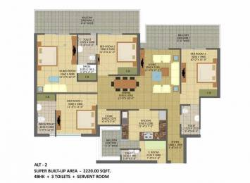 2220 sqft, 4 bhk Apartment in Builder Gaur city 7th avenue Tech Zone 4 Greater Noida Wes, Noida at Rs. 79.5200 Lacs
