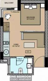 610 sqft, 1 bhk Apartment in  Maya Garden City Nagla, Zirakpur at Rs. 11000