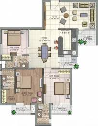 1690 sqft, 3 bhk Apartment in NK Savitry Greens VIP Rd, Zirakpur at Rs. 30000